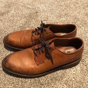 Mens FRYE Leather Derby Shoes Size 13